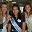 Sophie Thalmann, Vaimalama Chaves, Miss France 2019 et Camille Cerf à l'opération Charity Day chez Aurel BCG partners à Paris le 11 septembre 2019. © Veeren / Bestimage