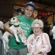 Ruth Westheimer le 11 juillet 2009 lors de la 11e édition de ''Broadway Barks'' à New York qui lutte pour les animaux dans les refuges