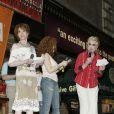 Maria Tyler Moore, Bernadette Peters et Angela Lansbury le 11 juillet 2009 lors de la 11e édition de ''Broadway Barks'' à New York qui lutte pour les animaux dans les refuges