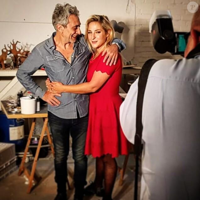 Marilou Berry pose avec son père Philippe Berry, sur Instagram, le 17 juin 2018.