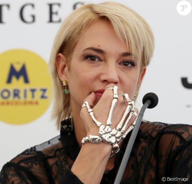 Asia Argento en conférence de presse lors du 52ème festival international du film fantastique à Sitges le 6 octobre 2019.