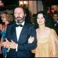 Michel Drach et Marie-José Nat en 1977 au Festival de Cannes.