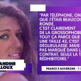 Amandine Billoux, invitée sur le plateau de TPMP le 11 octobre 2019.