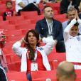 Rebekah Vardy (femme de Jamie Vardy) et ses enfants - Les familles de l'équipe d'Angleterre dans les tribunes lors de la 8ème de finale du match de coupe du monde opposant l'Angleterre à la Colombie au stade Spartak à Moscow , Russie, le 3 juillet 2018. L'Angleterre a gagné le match 4-3 aux tirs au but après un match nul 1-1. © Cyril Moreau/Bestimage