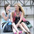 Leighton Meester et Blake Lively sur le tournage de la série Gossip Girl à New York, le 13 juillet 2009