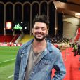 Kev Adams durant le match de football de Ligue 1 opposant Monaco à Paris Saint Germain au stade Louis II de Monaco le 11 novembre 2018. Une fois de plus les monégasques se sont inclinés en perdant la rencontre par 4 buts à 0. © Bruno Bebert/Bestimage