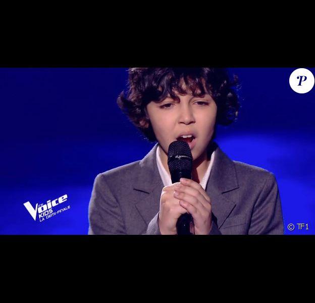 """Ali, Talent d'Amel Bent, lors de la finale de """"The Voice Kids 2019"""", le 18 octobre, sur TF1"""