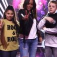 """Amel Bent et son équipe lors de la finale de """"The Voice Kids 2019"""", le 18 octobre 2019"""