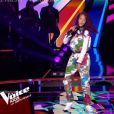 """Talima, Talent de Soprano, lors de la demi-finale de """"The Voice Kids 2019"""", le 18 octobre 2019, sur TF1"""