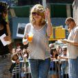Emilie de Ravin sur le tournage de Remember Me à New York le 14 juillet 2009