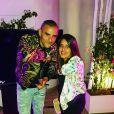 Inès Reg et le rappeur Fianso sur Instagram.