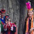 Le prince William, duc de Cambridge, et Catherine (Kate) Middleton, duchesse de Cambridge, vont à la rencontre du peuple Kalash dans la région du Chitral dans le nord-ouest du Pakistan, le 16 octobre 2019.