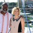 """Jean-Michel Martial et Vanessa Valence - Présentation du film """"Ma femme, ma fille, deux mariages"""". Cérémonie d'ouverture du 14e festival de la fiction TV de La Rochelle. Le 14 septembre 2012."""