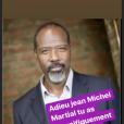 Pascal Légitimus rend hommage à Jean-Michel Martial sur Instagram, le 18 octobre 2019.
