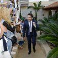 Marc Lopez - Les invités arrivent au mariage de Rafael Nadal et Xisca Perello à Majorque le 19 octobre 2019.