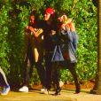 Exclusif - Justin Bieber et sa femme Hailey Baldwin Bieber ont assisté à la soirée d'anniversaire d'Andrew Watt dans une magnifique demeure du quartier de Beverly Hills à Los Angeles, le 19 octobre 2019.