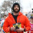 Jared Padalecki (série télévisée Supernatural) court le marathon de Boston 2019, le 15 avril 2019.