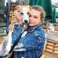 Camille Gottlieb sur Instagram avec sa chienne adorée Léonie, le 15 juillet 2019.