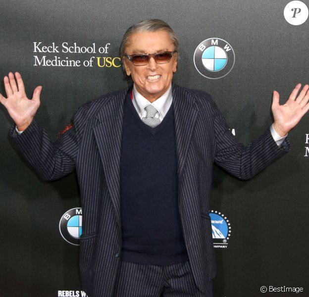 "Robert Evans lors du Gala ""Rebels With A Cause"" dans les studios Paramount à Hollywood, le 20 mars 2014."