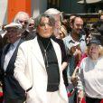 Robert Evans reçoit son étoile sur Hollywood Boulevard en 2002.
