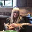 Suzanne Somers et son chat Hank sur Instagram, le 3 février 2019.