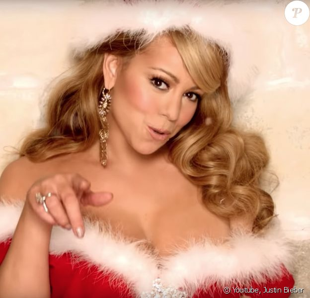 """Mariah Carey et Justin Bieber - """"All I Want For Christmas Is You"""". le 30 novembre 2011."""