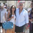 Flavio Briatore et sa femme Elisabetta Gregoraci passent leurs vacances à Saint-Tropez. 18/07/09