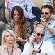 Christophe Maé et compagne Nadège Sarron - People dans les tribunes lors de la finale messieurs des internationaux de France de tennis de Roland Garros 2019 à Paris le 9 juin 2019. © Jacovides-Moreau/Bestimage
