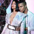 Kylie Jenner et Olivier Rousteing - Kylie Jenner pose pour sa gamme de cosmétiques en collaboration avec Balmain. Paris. Le 25 septembre 2019.