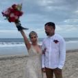 Lady Gaga au mariage de son amie maquilleuse Sarah Tanno au Mexique, le 17 novembre 2019 sur Instagram.