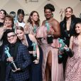Danielle Brooks, Selenis Leyva, Adrienne C Moore, Yael Stone, Madeline Brewer, Abigail Savage, Annie Golden, Emma Myles, Lin Tucci, Beth Fowler, Dascha Polanco, Lea DeLaria en press room de la 23ème soirée annuelle Screen Actors Guild Awards (SAG Awards) au Shrine Hall à Los Angeles, le 29 janvier 2017. © F. Sadou/AdMedia via ZUMA Wire/Bestimage