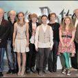 """Sir Michael Gambon, Tom Felton, Emma Watson, Rupert Grint, Daniel Radcliffe, Bonnie Wright, Jessie Cave et Jim Broadbent - Photocall du film """"Harry Potter et le prince de sang-mêlé"""". Claridges Hotel de Mayfair, Londres. Le 6 juillet 2009."""