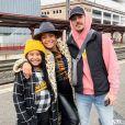 Christina Milian avec sa fille Violet et M. Pokora à la gare de Strasbourg le 6 octobre 2019.