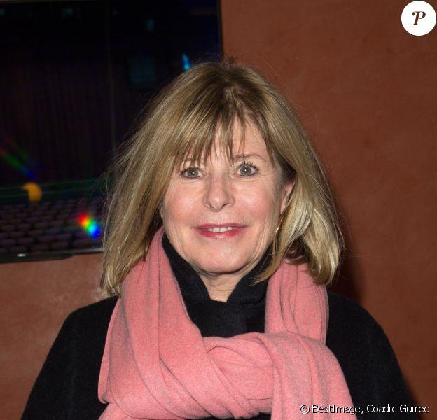 """Katherine Pancol lors de la représentation du spectacle """"Alex Lutz"""" à l'Olympia à Paris, le 8 février 2018. © Guirec Coadic/Bestimage"""