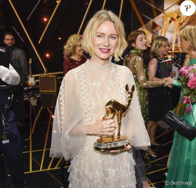 """Naomi Watts à la soirée des """"Bambi Awards 2019"""" à Baden-Baden, le 21 novembre 2019."""