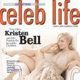 Kristen Bell... tellement glamour en couverture de Celeb Life !