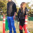 Josh Duhamel retrouve son ex Fergie pour passer la journée avec son fils Axl dans un parc de neige artificiel à Los Angeles, le 23 février 2019