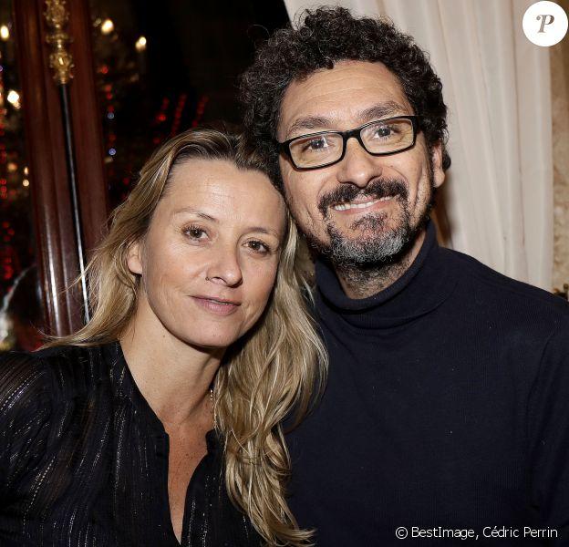 """Exclusif - Sarah Lavoine Poniatowski et David Foenkinos - Les célébrités assistent au 42ème """"Cocktail des Ecrivains"""" organisé par le Cercle mbc au Fouquet's à Paris, le 27 novembre 2019."""