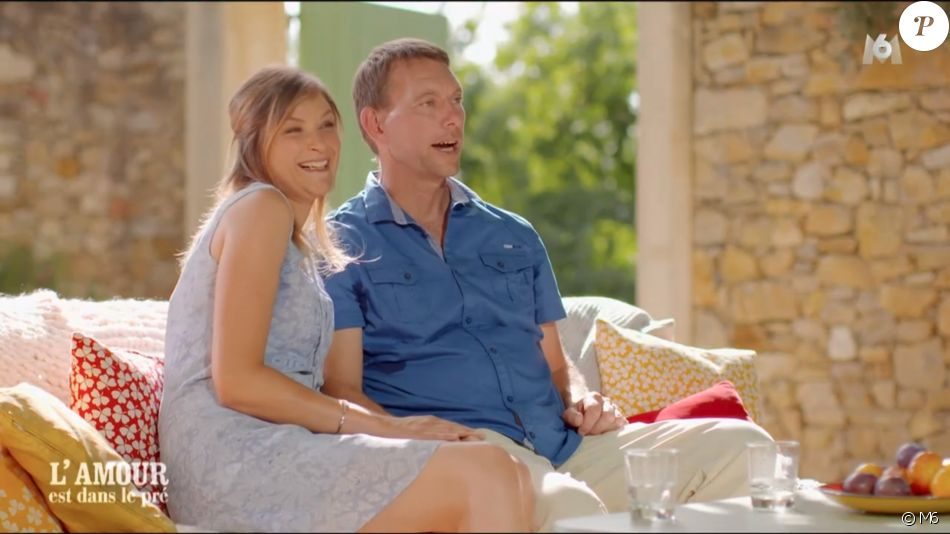 """François et Catherine dans le bilan de """"L'amour est dans le pré 2019"""" sur M6. Le 2 décembre 2019."""