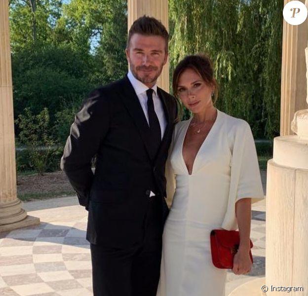 David et Victoria Beckham fêtent leurs 20 ans de mariage avec une visite privée du Château de Versailles. Juillet 2019.