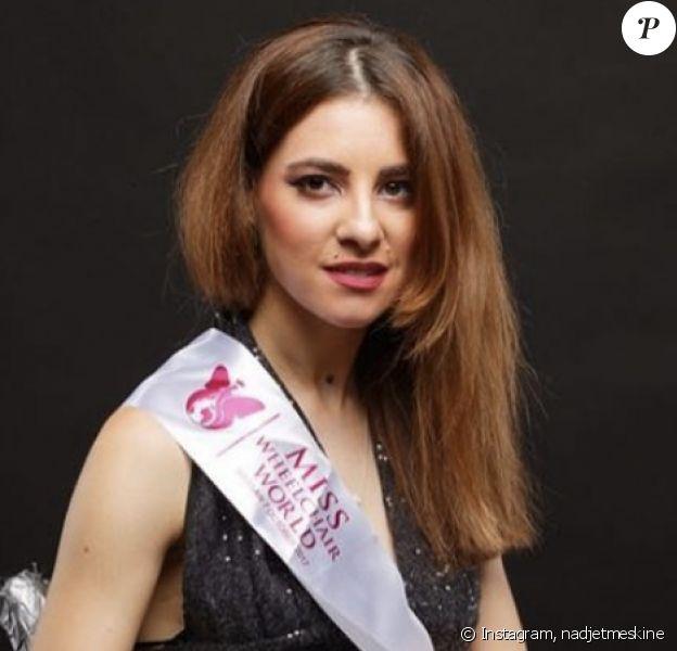 Nadjet Meskine, Miss Smile et Miss Monde en fauteil roulant - Instagram, 7 août 2019