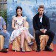 """Nick Powell, Liu Yifei et Hayden Christensen - Conférence de presse du film """"Outast"""" à Pékin, le 20 octobre 2013."""