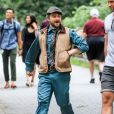 """Exclusif - Daniel Radcliffe sur le tournage de """"Unbreakable Kimmy Schmidt"""" à New York, le 8 juillet 2019."""