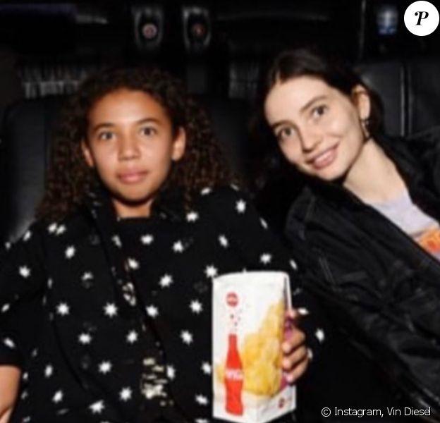 """Similce Diesel et Meadow Walker, les filles de Vin Diesel et Paul Walker, assistent à l'avant-première de la série """"Fast & Furious: Spy Racers"""" à Los Angeles. Le 7 décembre 2019."""