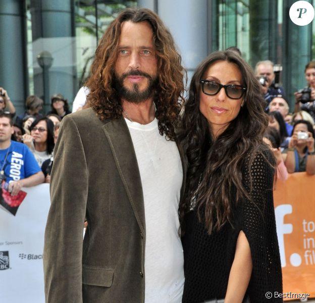 """Chris Cornell et Vicky Karyiannis - Première du film """"Machine Gun Peacher"""" au festival du film de Toronto, le 11 septembre 2011."""