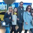 Exclusif - Chris Cornell, sa femme Vicky Karayiannis et leur fille Toni Cornell arrivent à Athènes en Grèce pour assister au concert de Anna Vissi. Le 6 avril 2017.