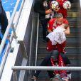 Franck Ribéry et sa fille Keltoum - Franck Ribéry célèbre le titre de champion d'Allemagne et son dernier match sous les couleurs du Bayern de Munich le 18 Mai 2019.