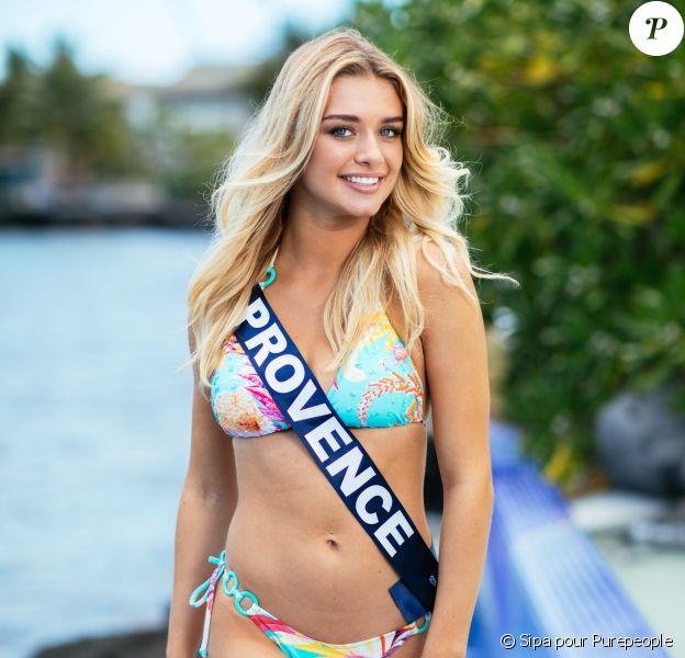 Miss Provence, Lou Ruat, lors du voyage Miss France 2020, à Tahiti, en novembre 2019.