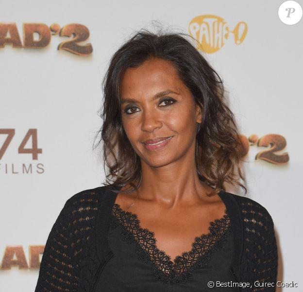 """Karine Le Marchand - Les célébrités posent lors du photocall de l'avant-première du film """"Alad'2"""" au cinéma le grand Rex à Paris le 21 septembre 2018. © Guirec Coadic/Bestimage"""