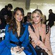 """Vaimalama Chaves (Miss France 2019) et Sylvie Tellier - People au défilé de mode Haute-Couture printemps-été 2019 """"Jean Paul Gaultier"""" à Paris. Le 23 janvier 2019 © Olivier Borde / Bestimage"""
